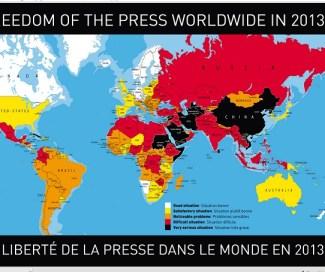 press freedom map 2013