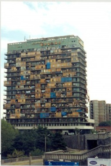 Iveria hotel -   current hotel Radisson, which used to house IDPs from Abkhazia throughout 1990-early 2000s (Paul Manning)