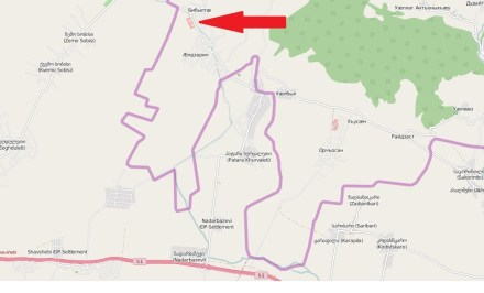 Location of Russian military facility (OpenStreetMap)