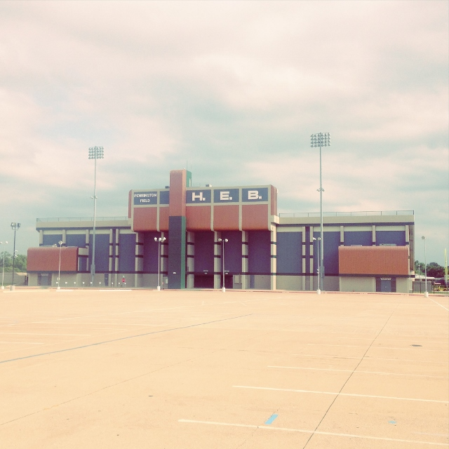 The photo of the high school football stadium for Bedford, Texas