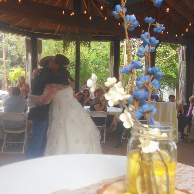 A couple dancing at a country wedding in Burleson, Texas