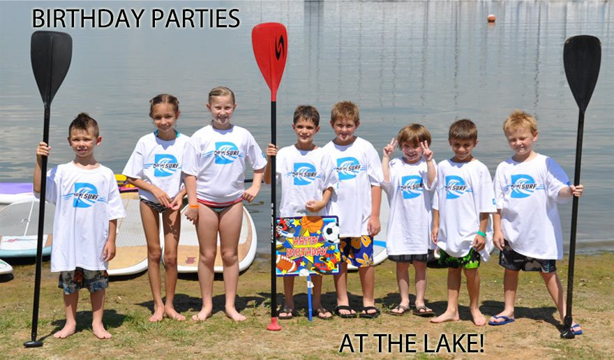Birthday Party Near Me on Lake Grapevine with DFW Surf
