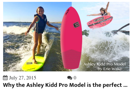 A link to blog post about why Ashley Kidd's Pro Model is the best all-around board