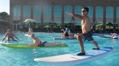 Pool Party Aqua Yoga at Lifetime Fitness