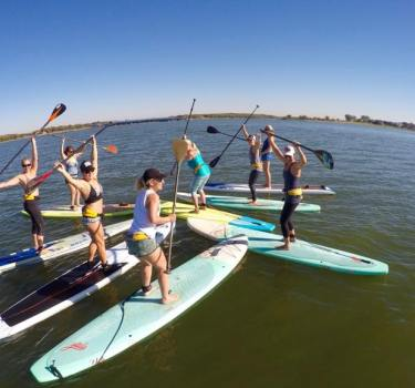 Womens Wednesdays paddleboarding classes with Coach Konae Nowell near Frisco