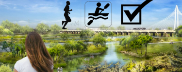 Trinity River Park Running and Paddlesports Paradise