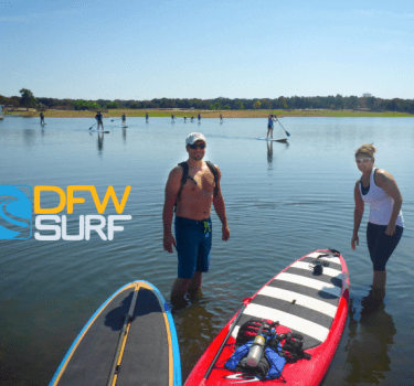paddleboarding rentals on Grapevine Lake