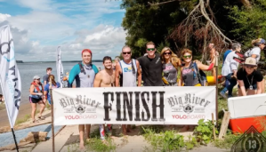 Big River Regional Finish Line with the DFW Surf Crew