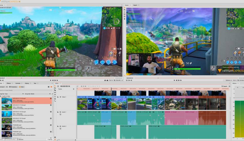 HitFilm Express interface – free video editing software