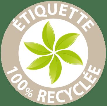 Etiquettes 100% recyclés. On en parle dans la presse !