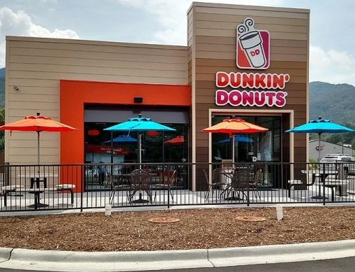 dunkin donuts restaurant outside view