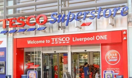 Tesco supermarket store from front