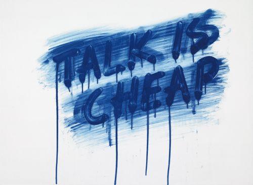 Talk is Cheap by Mel Bochner