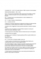 Loi du 16 septembre 1976 creant l'OGEDEP