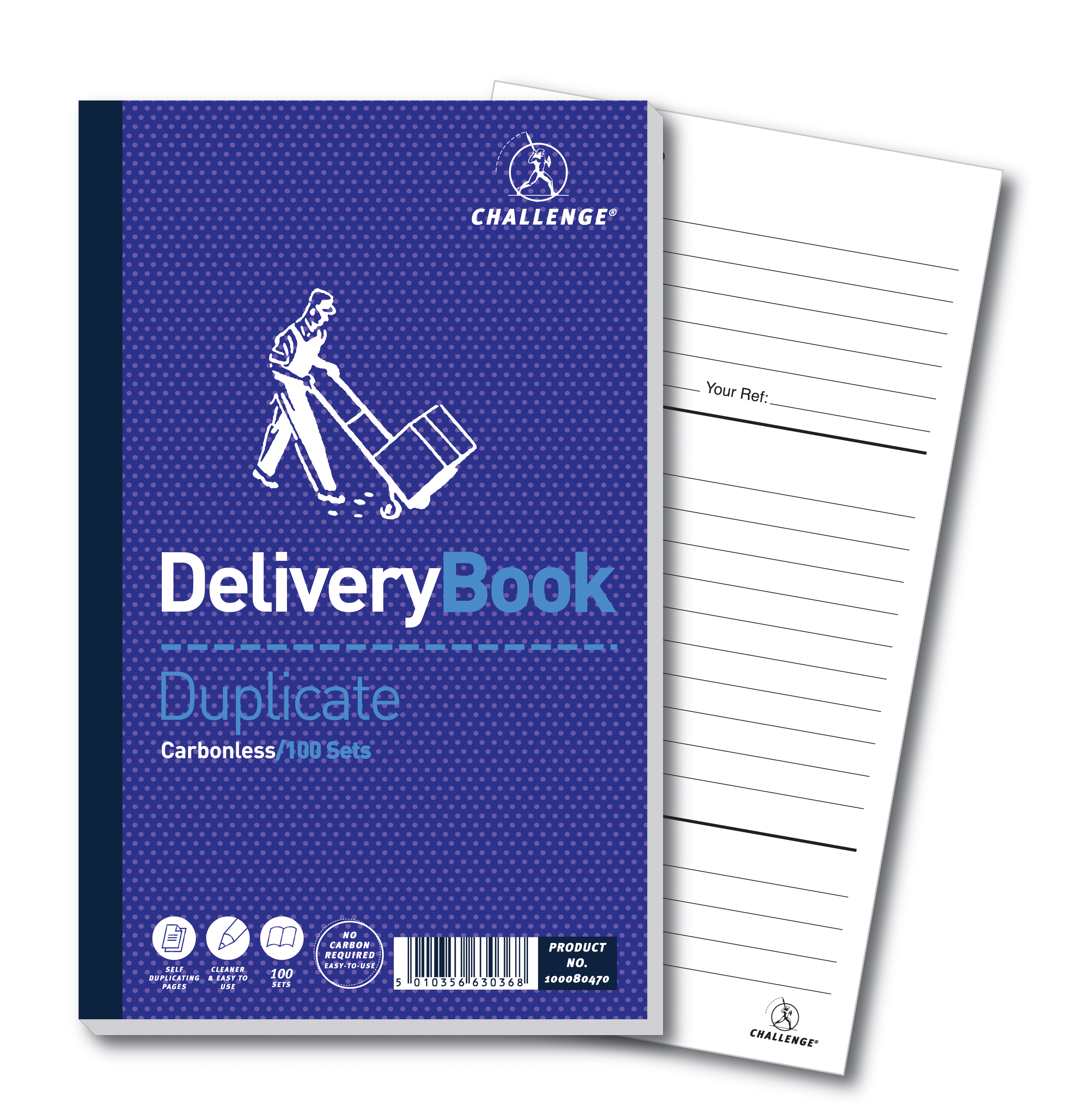 Challenge Duplicate Delivery Book Carbonless 100 Sets 210
