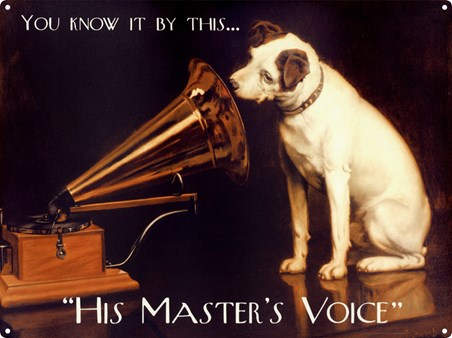 Nipper His Masters Voice Tin Sign Buy Online