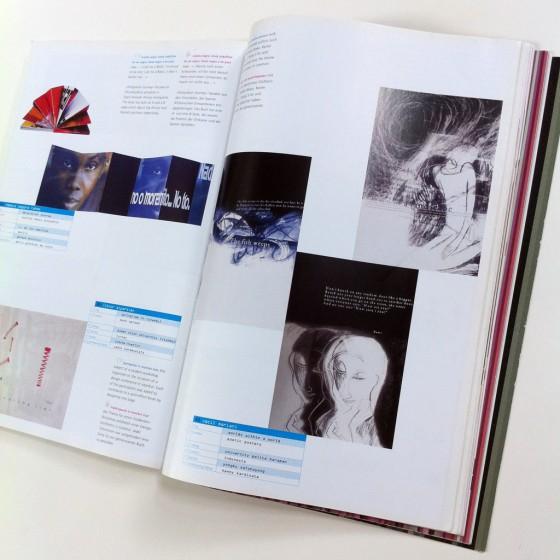 Gb. 2. Karya Cecil Mariani pada buku ':output' 04, 2001.