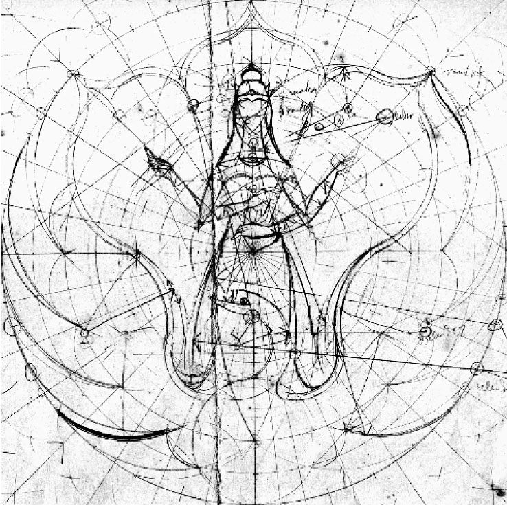 Gambar teknik lambang terpilih (dok: Subroto, Sm.)
