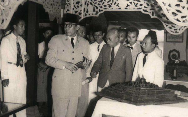 Kunjungan Bung Karno ke ASRI, Ngabean, 1955
