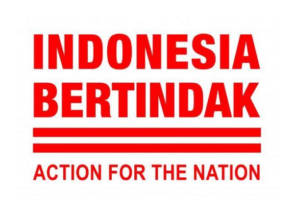Logo gerakan 'Indonesia Bertindak'.