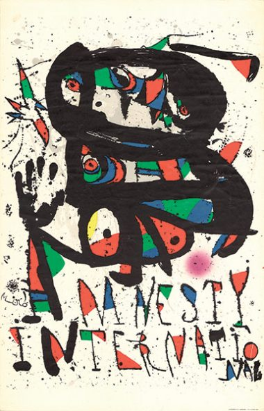 Poster Prisoner of Conscience, Joan Miró (1893-1983), 1977.