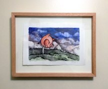 LolliPig Waits (framed)