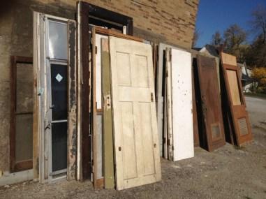 Many old doors