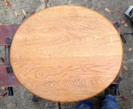 The reclaimed end table top that will need sanded and painted.