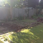 complete garden landscaping. Photo before work was carried out.