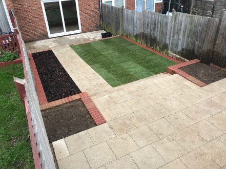 Landscaping project completed in Woodley