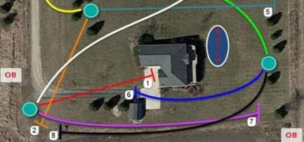 yard disc golf course
