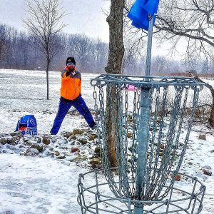 Friction Gloves out on the disc golf course