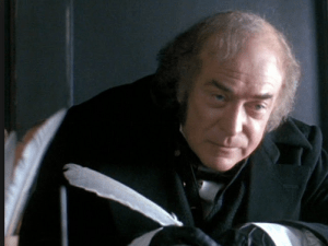 Michael Caine as Scrooge in A Muppet Christmas Carol, one of my favorite versions