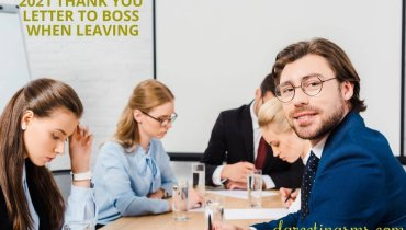 2021 Thank You Letter to Boss When Leaving