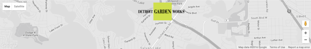 Detroit Garden Works Map