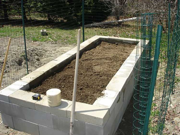 Raised Vegetable Garden Cinder Blocks