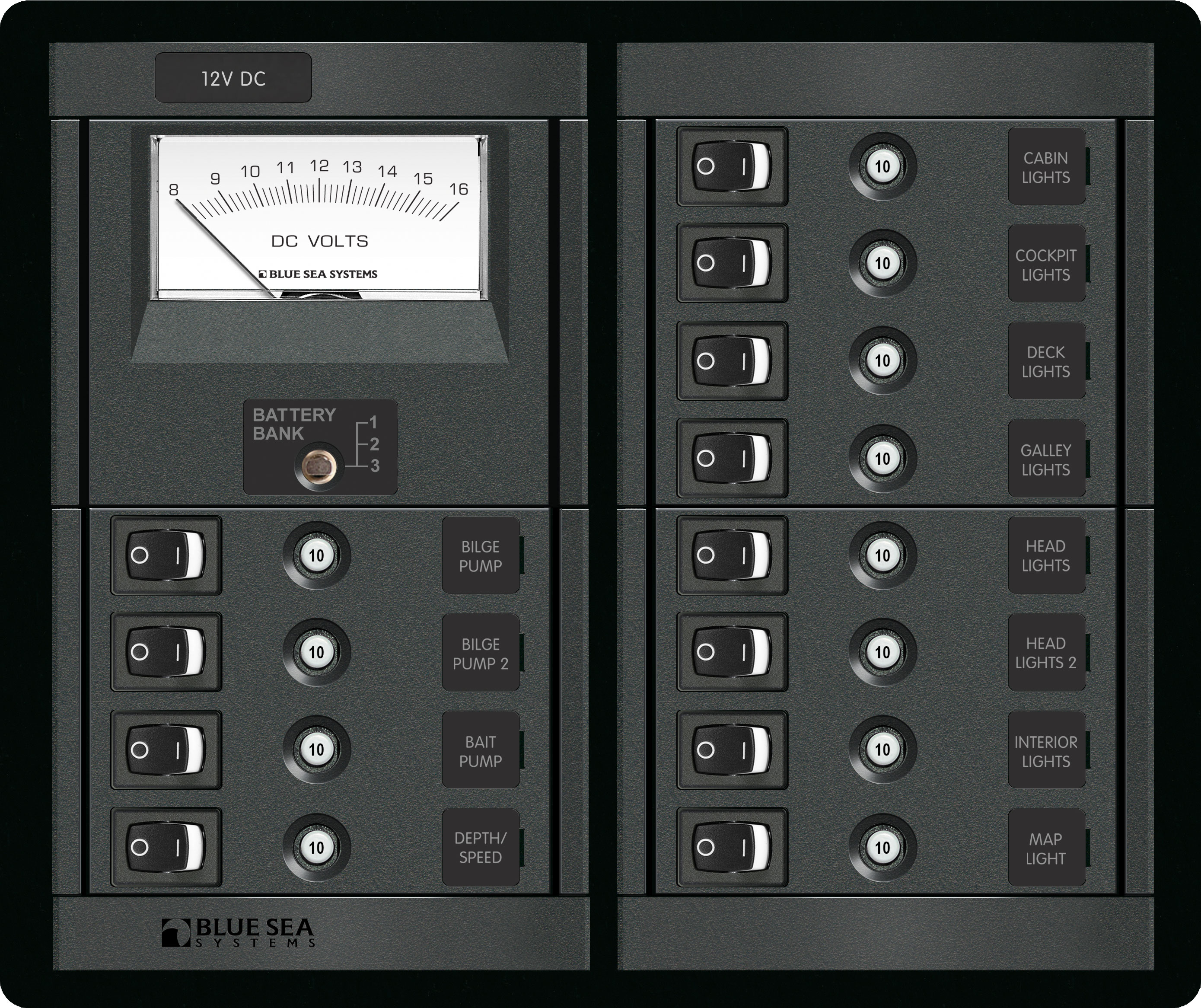 12 Position Switch Clb Meter Square