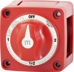 mSeries Mini Selector Battery Switch  Red  Blue Sea Systems