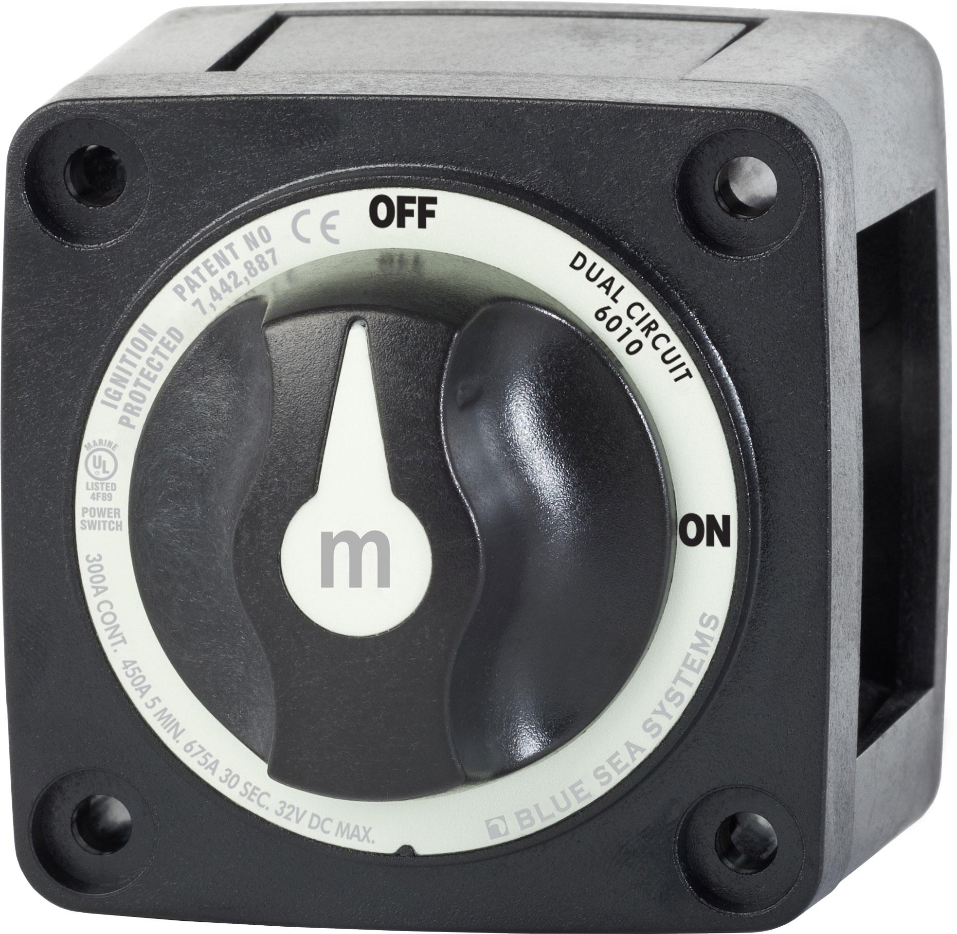 M Series Mini Dual Circuit Battery Switch