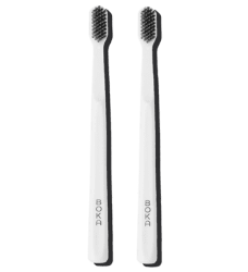 The Boka Classic Brush charcoal manual toothbrush
