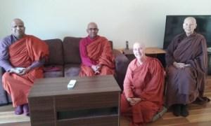 Bhante Mahinda Sara, Bhante Sumedha, Ayya Santacari, Ayya Nirodha