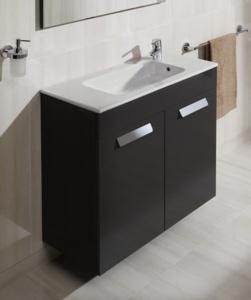 meuble salle de bain unik debba compact 2 portes de roca