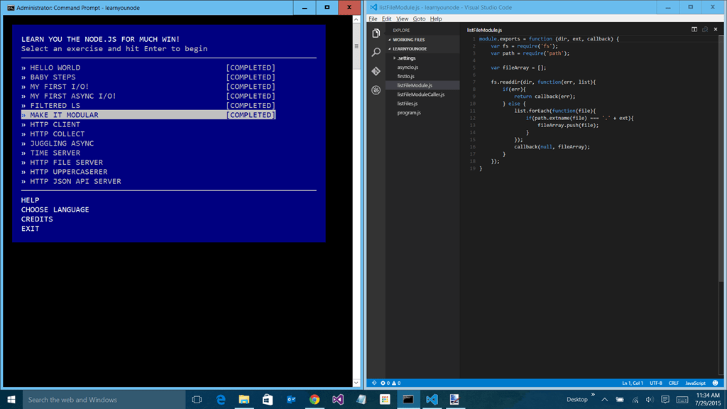 Learn You Node with VS Code - Low Code Life