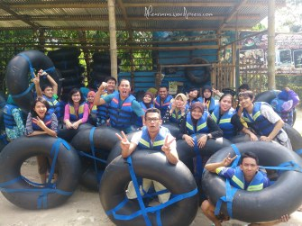 My crazy bunch. Before we departed for cave tubing. Taken with my Xperia ZR.