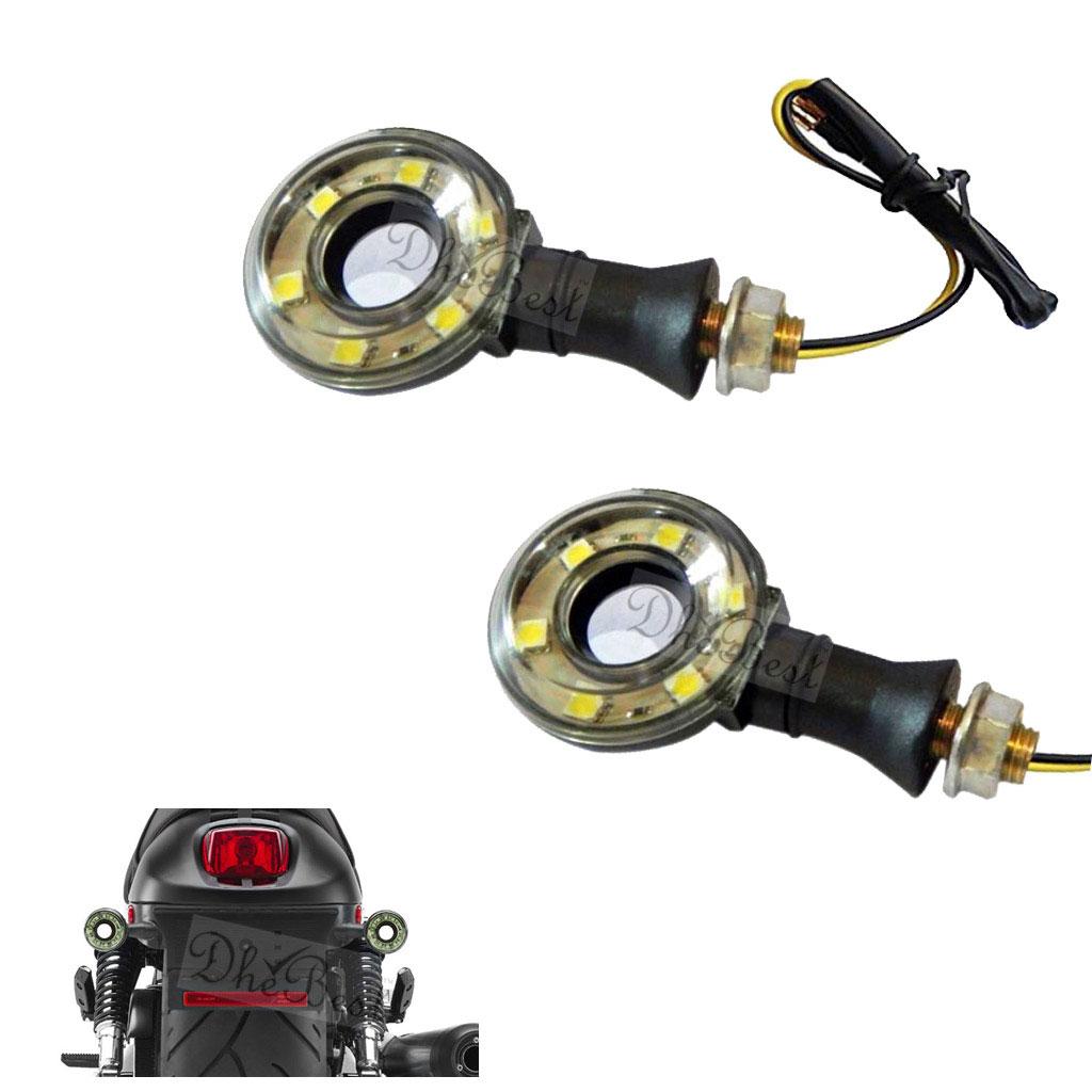DheBest Universal Motorcycle LED Turn Signal Indicator Assembly Bike  Indicator Light Turning Lamp set of 2