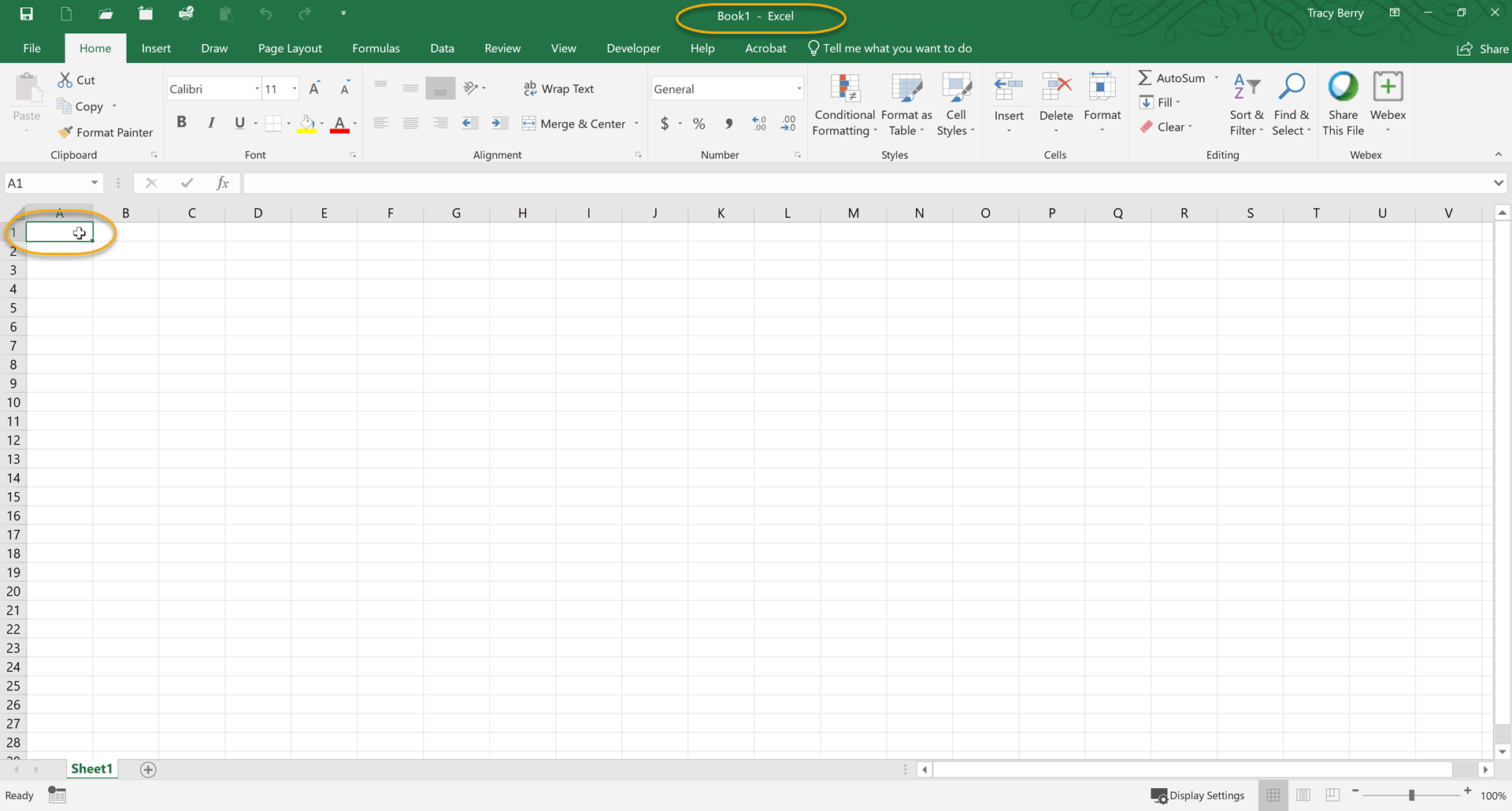 Tutorial Creating A Microsoft Excel Workbook