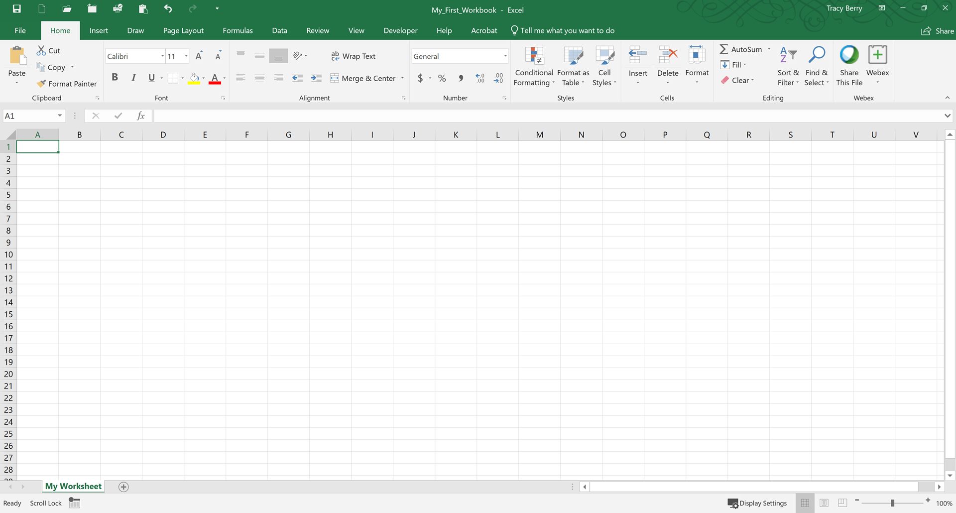 Tutorial Creating A Microsoft Excel Workbook