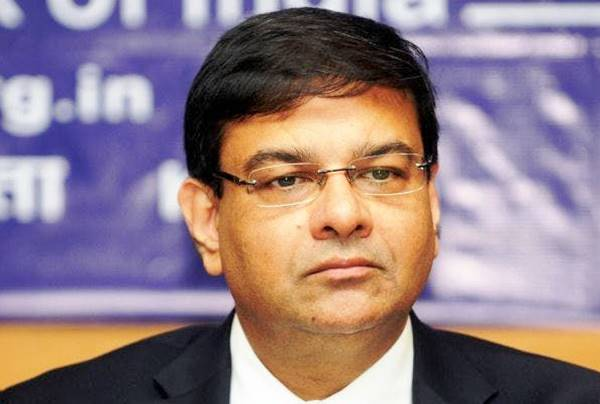Urjit Patel RBI Governor