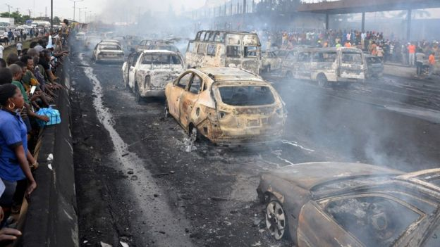 Nigeria fuel truck blaze kills at least nine