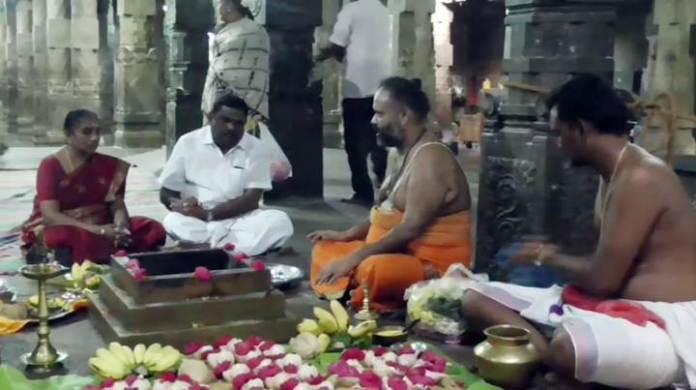 கஜா புயலால் பாதிப்படைந்தவர்களுக்கு வாழ்க்கை மீள வேண்டி கரூரில் 108 சங்காபிஷேகம்!